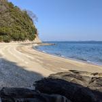 寄島町の三郎島の海岸