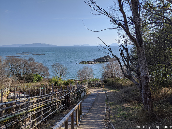 三郎島から見る三ツ山