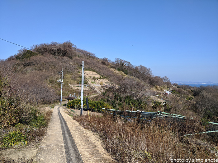 三郎島の歩道
