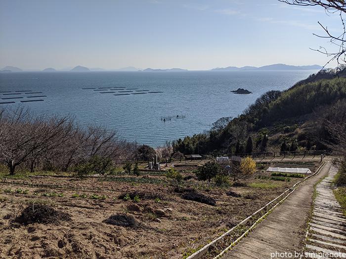三郎島から見る南側の海岸