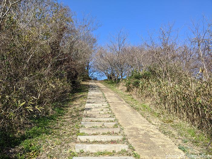 三郎島の東側の展望台へ行く道