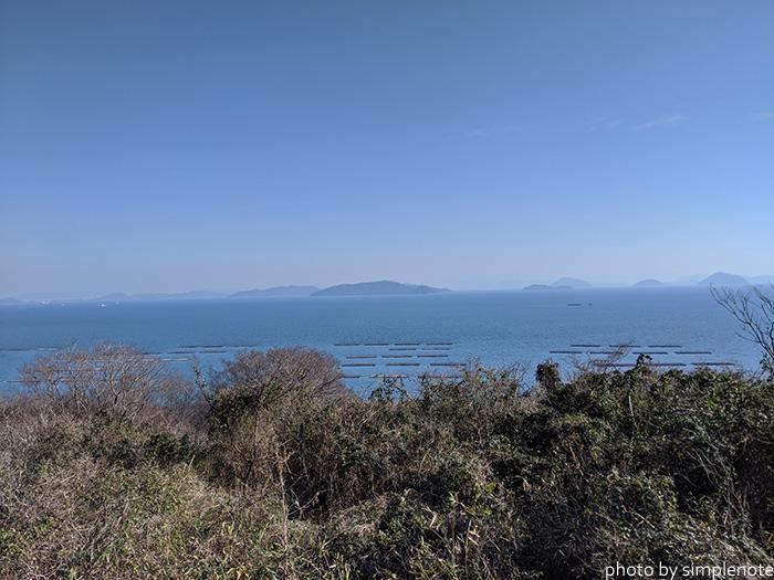 三郎島の東の展望台から見る景色