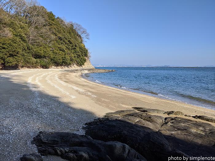 三郎島の東側の海岸