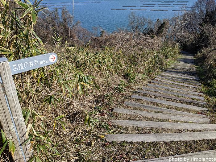 三郎島の苔陰の井戸へ行く道